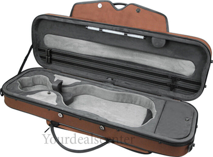 Pedi Violin Case Aluminum Alloy Layer -Braun No shipping for Accessories