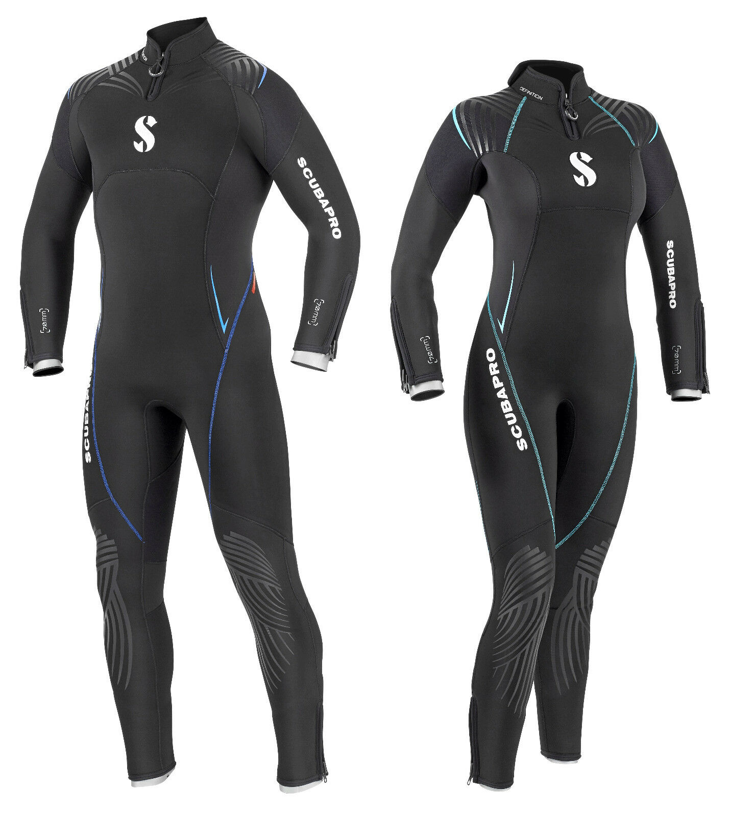 Scubapro Definizione 7.0 Muta Immersione Immersione Immersione Erl 36-58 Donna e Uomo 7mm in Neoprene 957f3a
