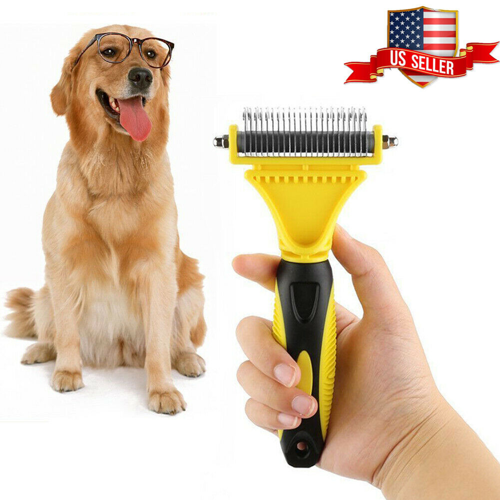 Pet Dog Cat Hair Fur Shedding Trimmer Grooming Dematting Rake Comb Brush Tool