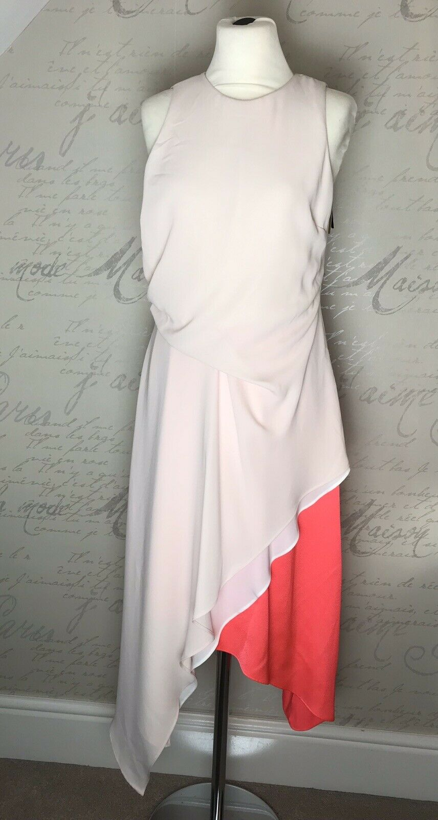 Coast Peach & Coral Fancy Summer Ascot Races Wedding Cheltenham Dress Size 10