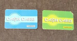 2 MALL MADNESS 2004 REPLACEMENT CREDIT CARDS RED /& YELLOW FOR BOARD GAME