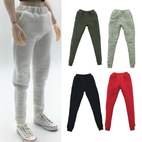 DIY 1//6 Scale Womens Pants Sweatpants for Hot Toys 12/'/' Female Figures Body Gray