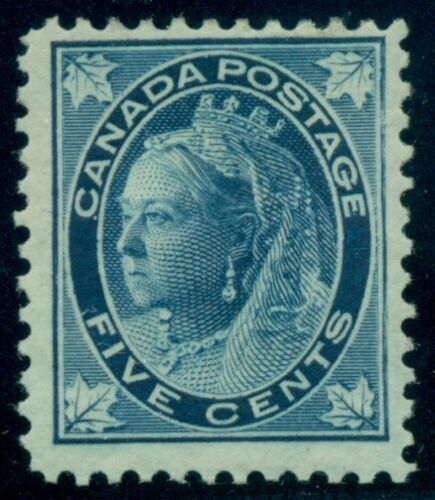 CANADA #70 5 Queen Victoria, blue issue, og, hinged, VF, Scott $150.00
