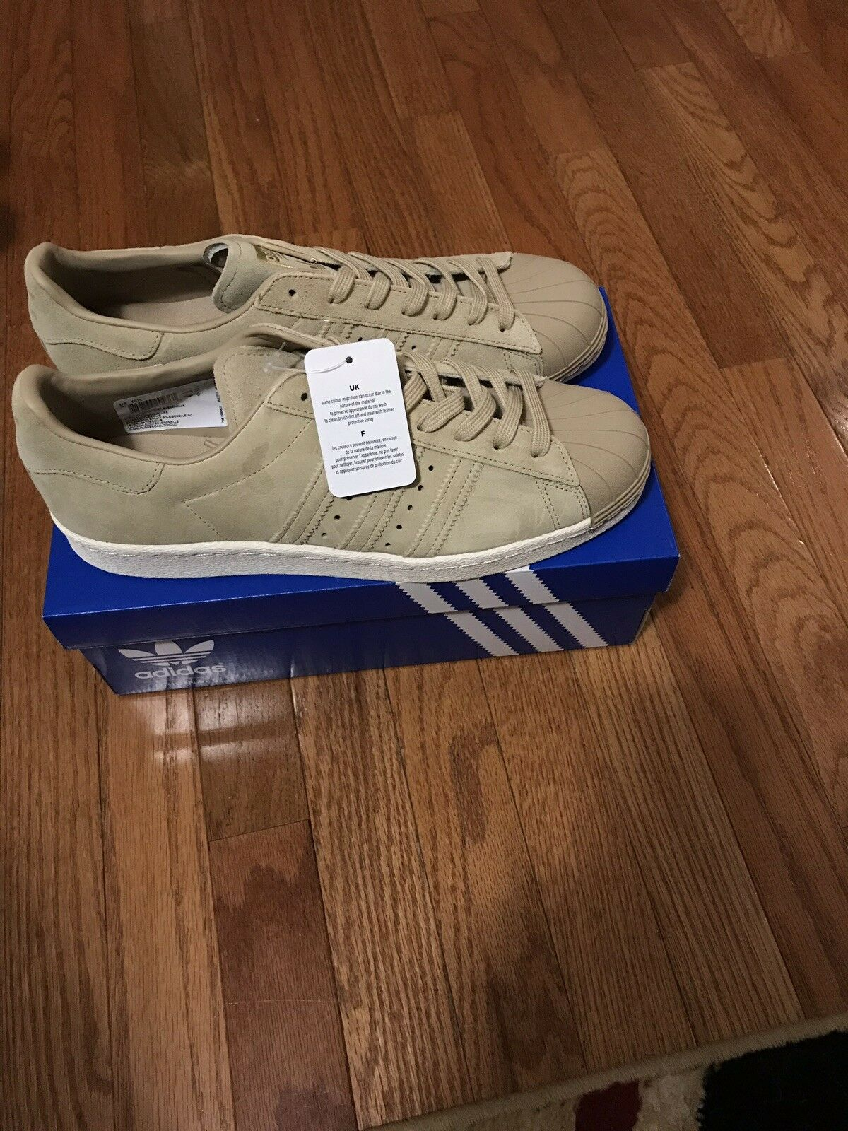 NEW MENS ADIDAS SUPERSTAR 80s SNEAKERS BB2227-SHOES-Size 10.5