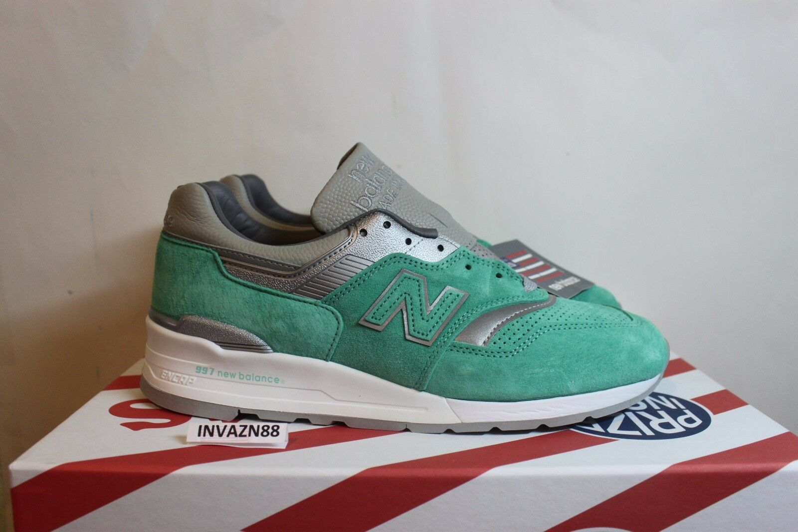 New Balance X Concepts 997 Rivalry Pack NYC New York Mint Made USA Dimensione 8.5