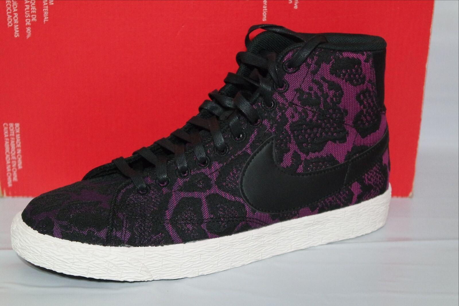 Nike blazer mid jacquard - frauen, größe 6,5, mulberry / schwarz, 749522 500