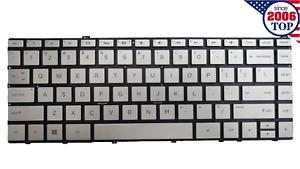 New Silver HP Spectre x360 13-W 13-W000 Keyboard Backlit US