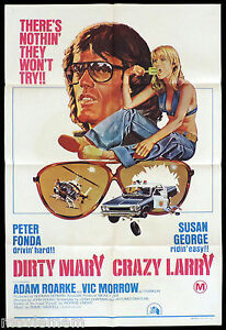DIRTY-MARY-CRAZY-LARRY-Original-ONE-SHEET-Movie-Poster-Peter-Fonda-Susan-George