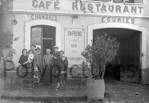 1920 Photo ancien commerce Bar Bistrot Café Restaurant Hôtel tirage repro an