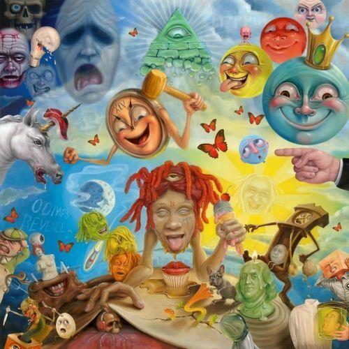 Trippie Redd Life窶冱 a Trip Album Cover Fabric Poster 12x12 24x24 Rap Music B-211
