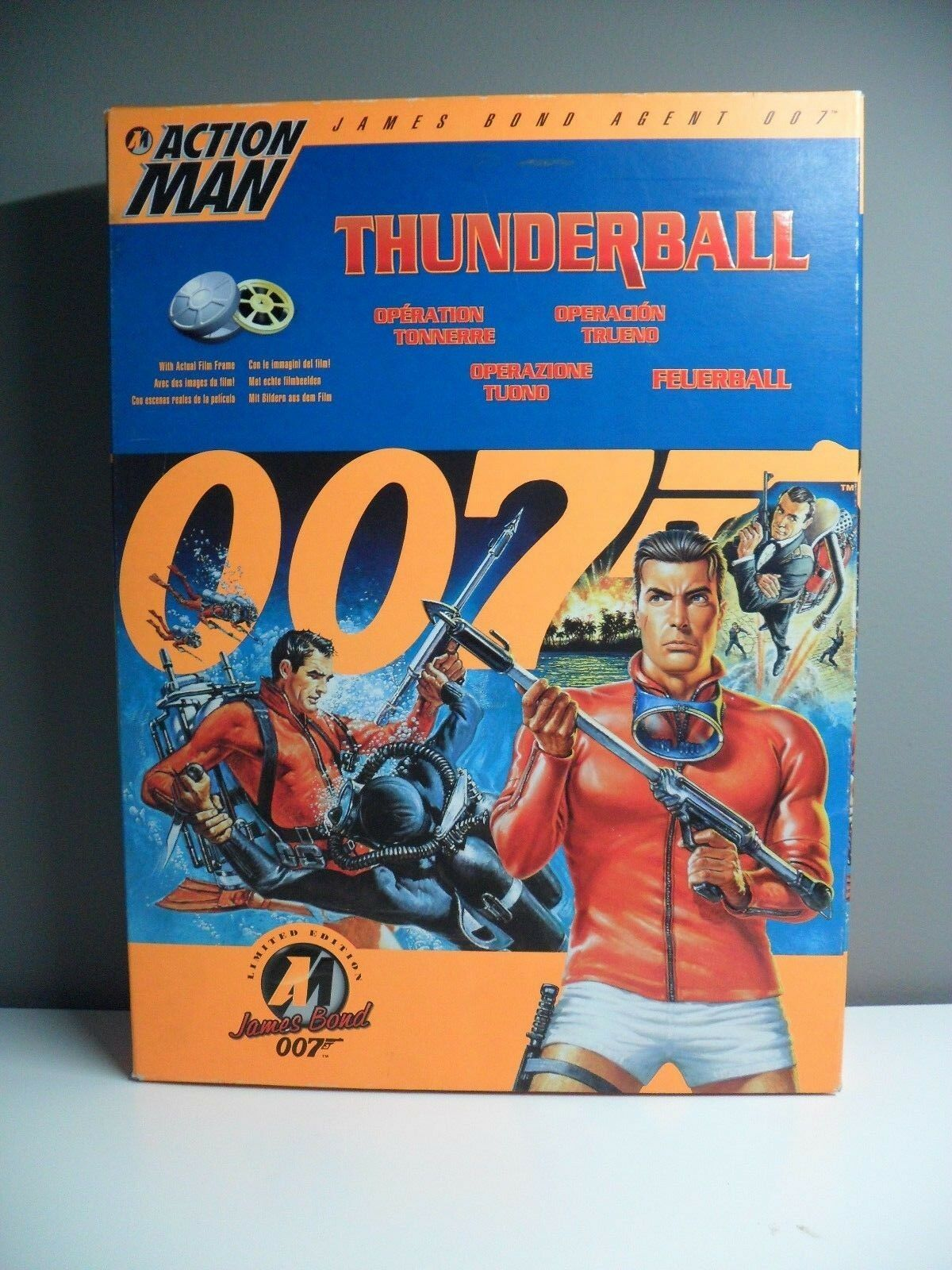 RARE NEW GI JOE ACTION MAN FIGURE JAMES BOND THUNDERBALL  MOVIE 12