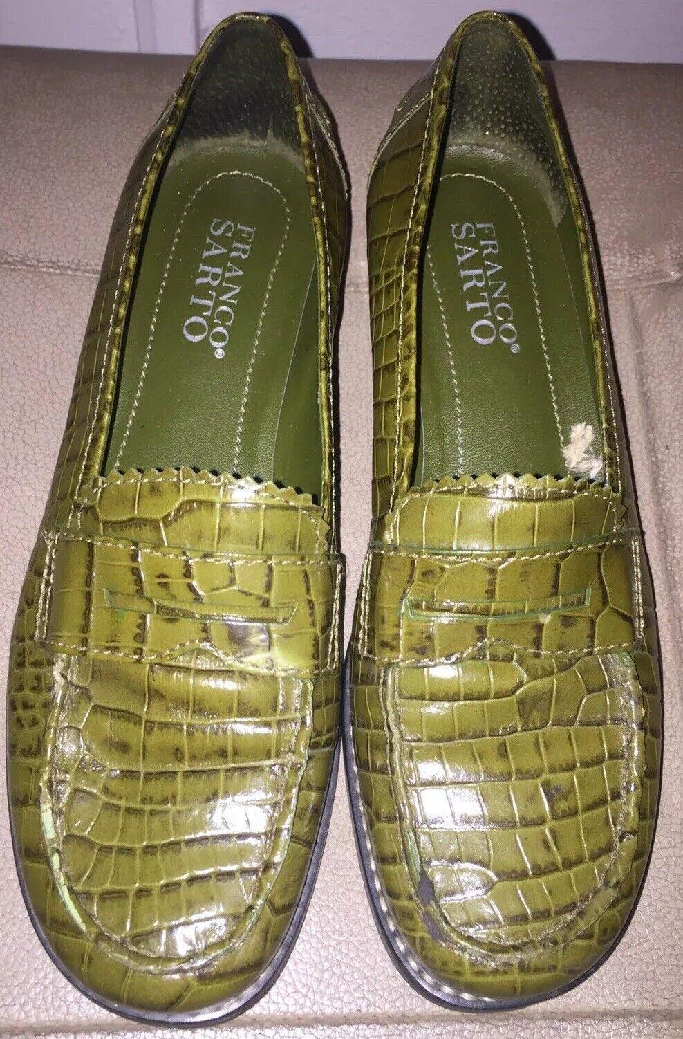 goditi il 50% di sconto Franco Franco Franco Sarto Leather verde donna scarpe Dimensione 6 M Flats MSRP  215  caldo