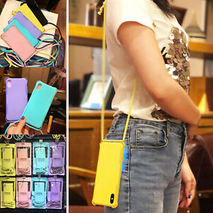Cross-Body-Strap-Soft-TPU-Air-Bag-Case-Cover-For-iPhone-XS-MAX-XR-X-6S-7-8-Plus