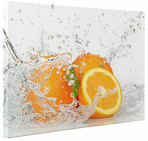Details About Orange Fruit Splash Abstract Canvas Print Wall Art Picture Large Or Small A1 A2