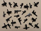 x25 NEW Lego BATMAN HALO STAR WARS ARMY Minifig Weapons Lot ALL BLACK GUNS