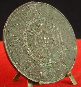 * Médaille Paris 1855 Exposition Universelle Agriculture Industrie Arts Medal 勋章 Laissons Nos Produits Aller Au Monde