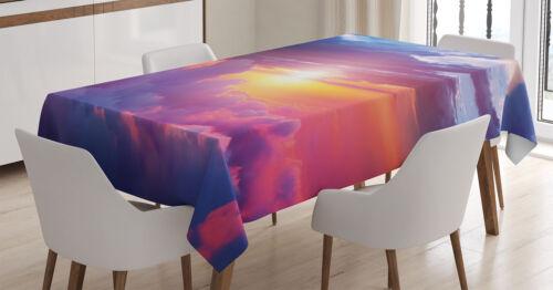 Sunset Himmel und Wolken Waschbar Landschaft Tischdecke