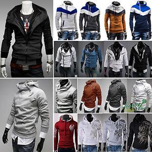Men-Hoodies-Sweatshirt-Hooded-Sweater-Pullover-Coat-Top-Shirt-Blouse-Sportswear