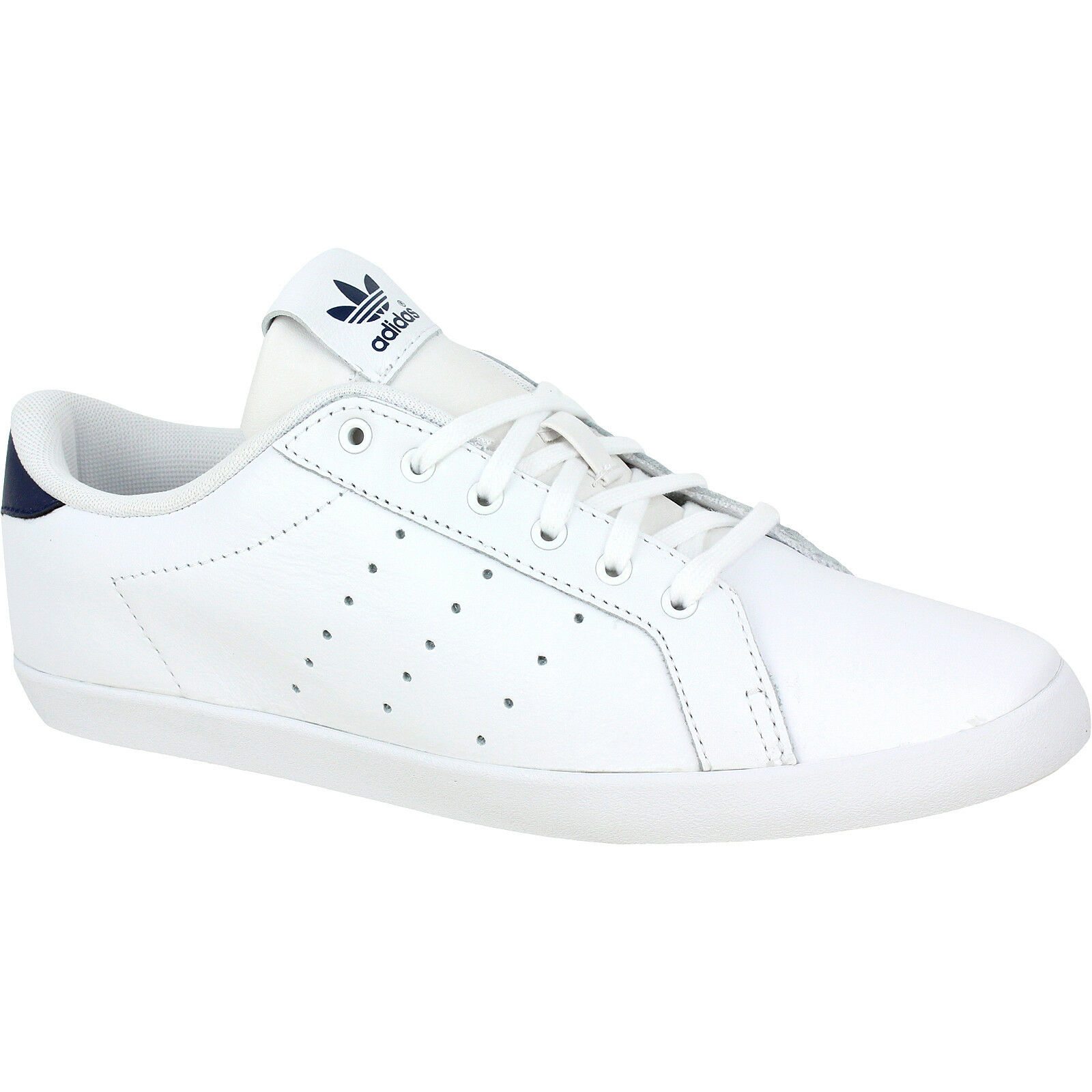 Adidas Originals Miss Stan Womens Trainers Leather White Navy bluee Size 4.5-5.5
