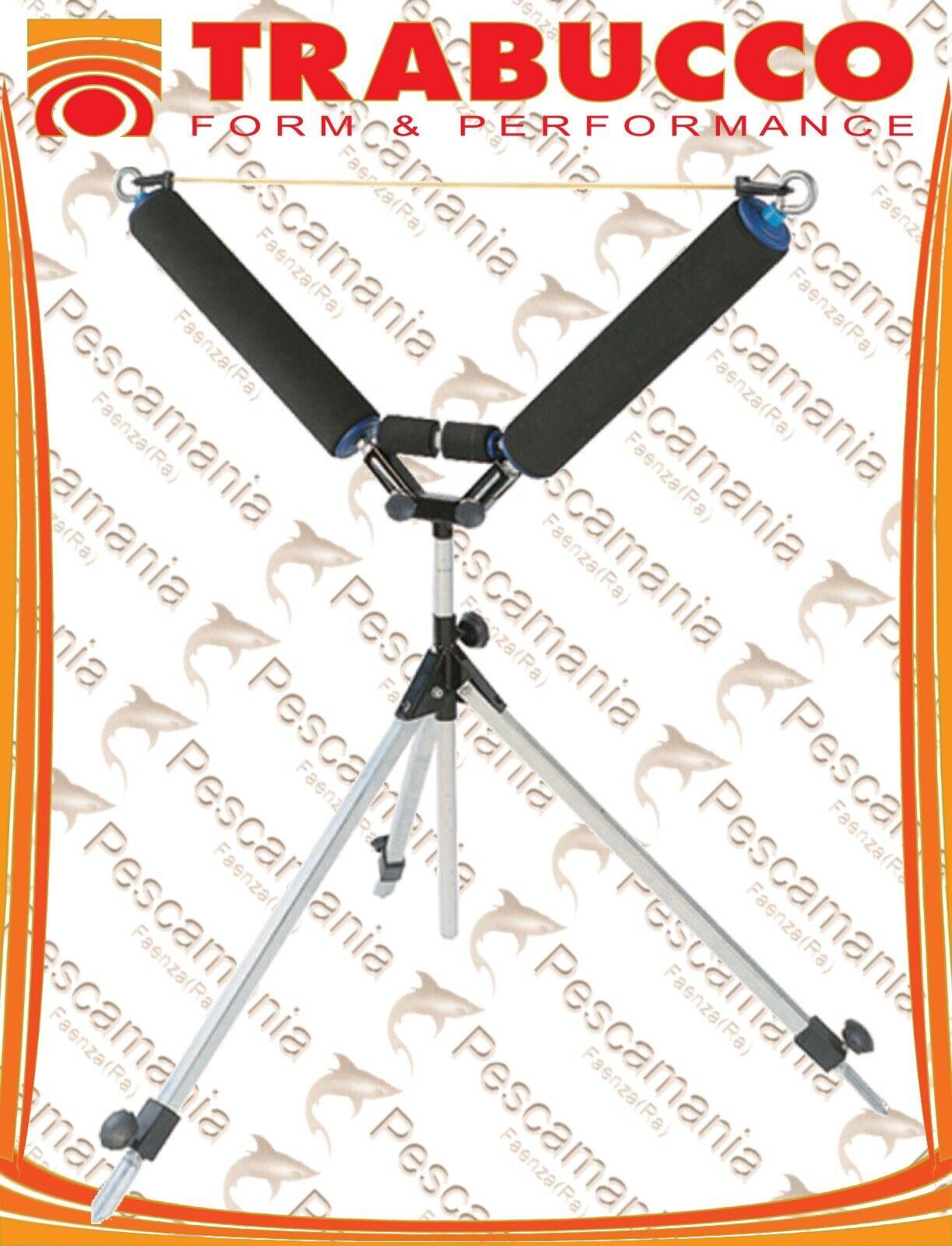 Rullo roubaisienne Trabucco Tripod Roller telescopico doppio rullino centrale
