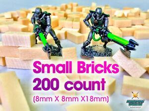 High Density XPS Hobby Foam Bricks 200 Count SMALL (8mmX8mmX18mm) Wargaming