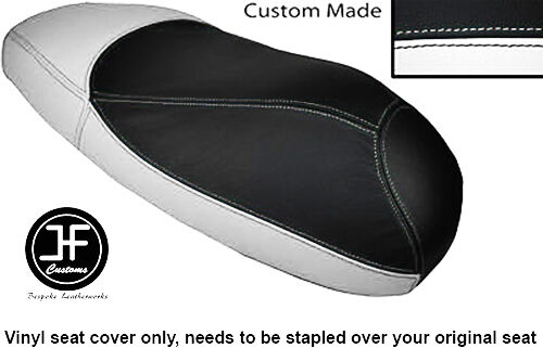 WHITE /& BLACK AUTOMOTIVE VINYL CUSTOM FITS HONDA X8R X8RS 50 DUAL SEAT COVER