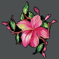 Big Flower Embroidered 4 Inch Iron On Patch