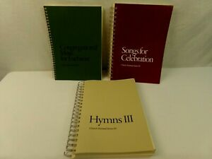 Church-Hymnal-Series-3-4-and-5-Spiral-Book-Lot-of-3-Eucharist-Christian-Music
