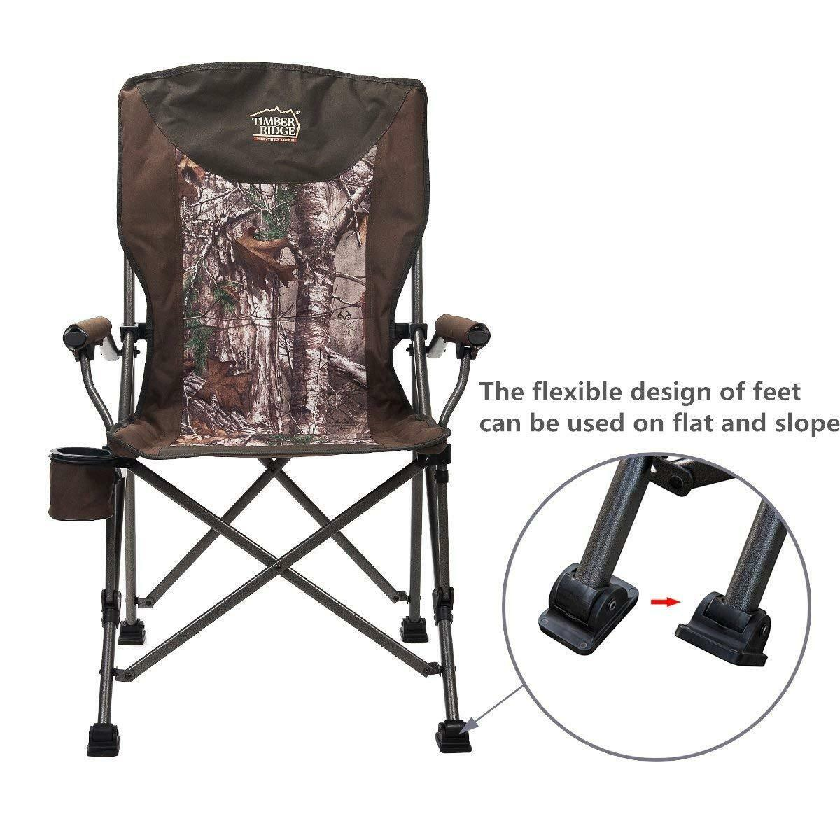 Tremendous Camo Camping Chair Ergonomic Hunting Outdoor Activity Foldable Canvas Cup Holder Machost Co Dining Chair Design Ideas Machostcouk