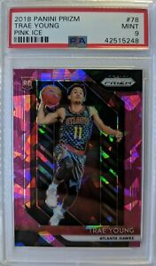 2018-19-Prizm-Trae-Young-Pink-Ice-Prizm-Refractor-Rookie-RC-78-Graded-PSA-9
