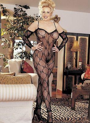 One Size Queen Black Bow Lace Bodysuit Plus Size Lingerie SOH-X96619