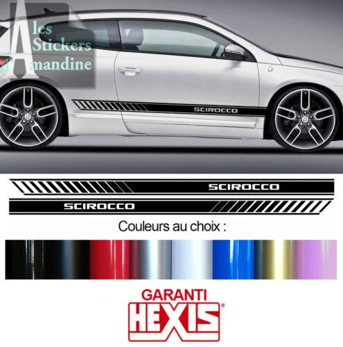 2 BANDES BAS DE CAISSE POUR VW SCIROCCO SPORT DECO PORTIERE STICKER BD599-26