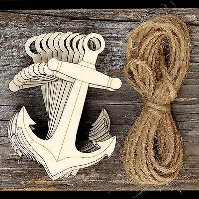 10 Pack Plywood Wooden Craft Shape Blank Boat Pirate Ship