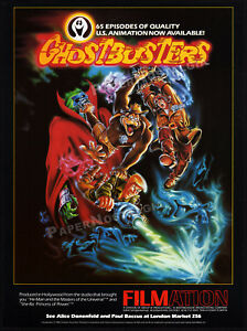 Filmation-039-s-GHOSTBUSTERS-Original-1986-Trade-AD-TV-series-anncmt-promo-poster