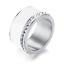Indexbild 8 - EDELSTAHL Ring STRASS silber rose gold Keramik Fingerring weiß DELUXE + AUSWAHL