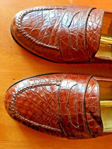 RARE! Bragano Cole Haan Rust Crocodile Alligator L