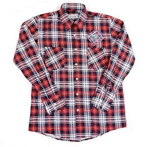 Details about Vintage Bud Berma Highlander Flannel New Workwear Shirt Red Logger Size Medium