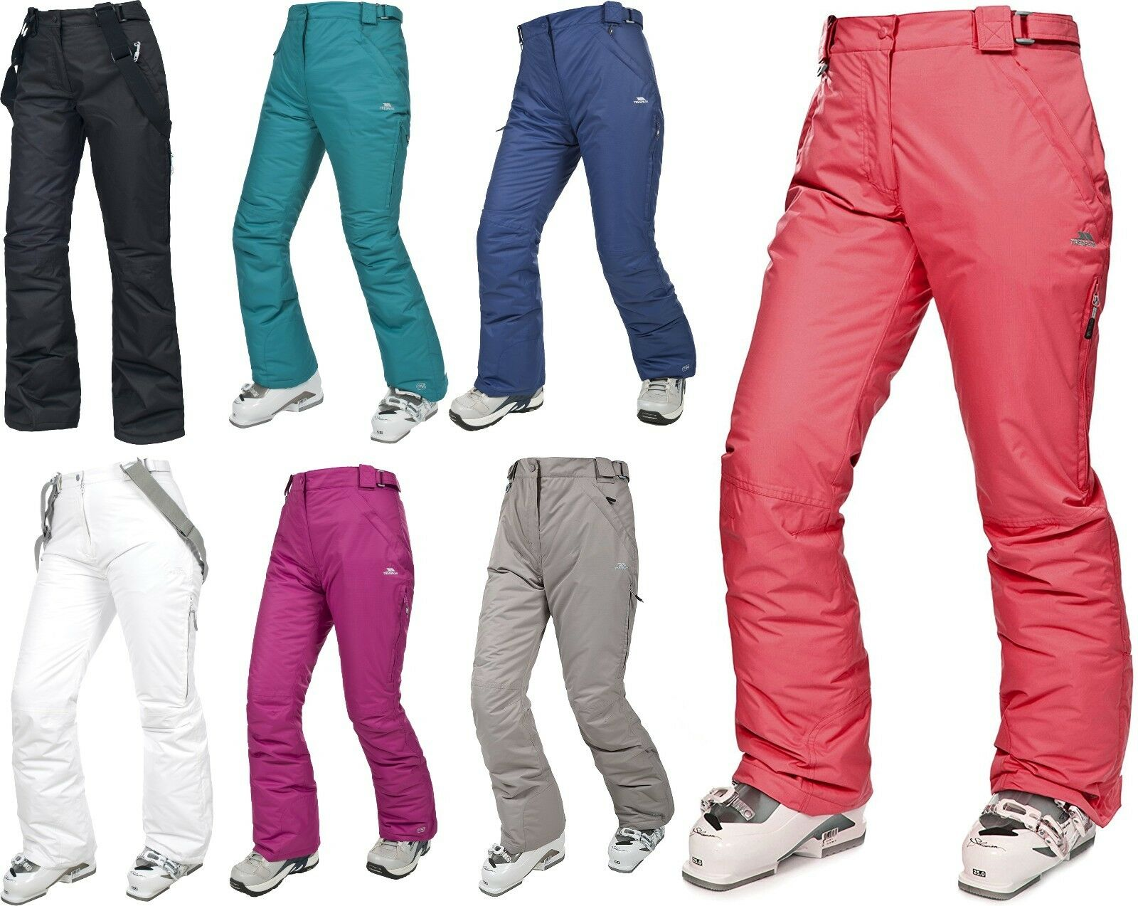 TRESPASS WOMENS LOHAN SKI SNOW WATERPROOF PANT REGULAR INSEAM TAPED SEAM 5000 MM