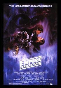 STAR WARS EMPIRE STRIKES BACK V MOVIE Film Cinema wall Home Posters A3 #21