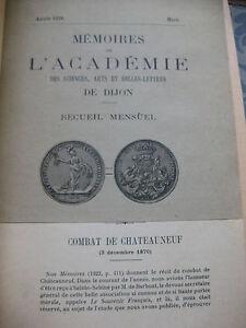 1924-Memoires-de-l-039-Academie-des-sciences-Dijon-Combat-de-Chateauneuf-Bourgogne