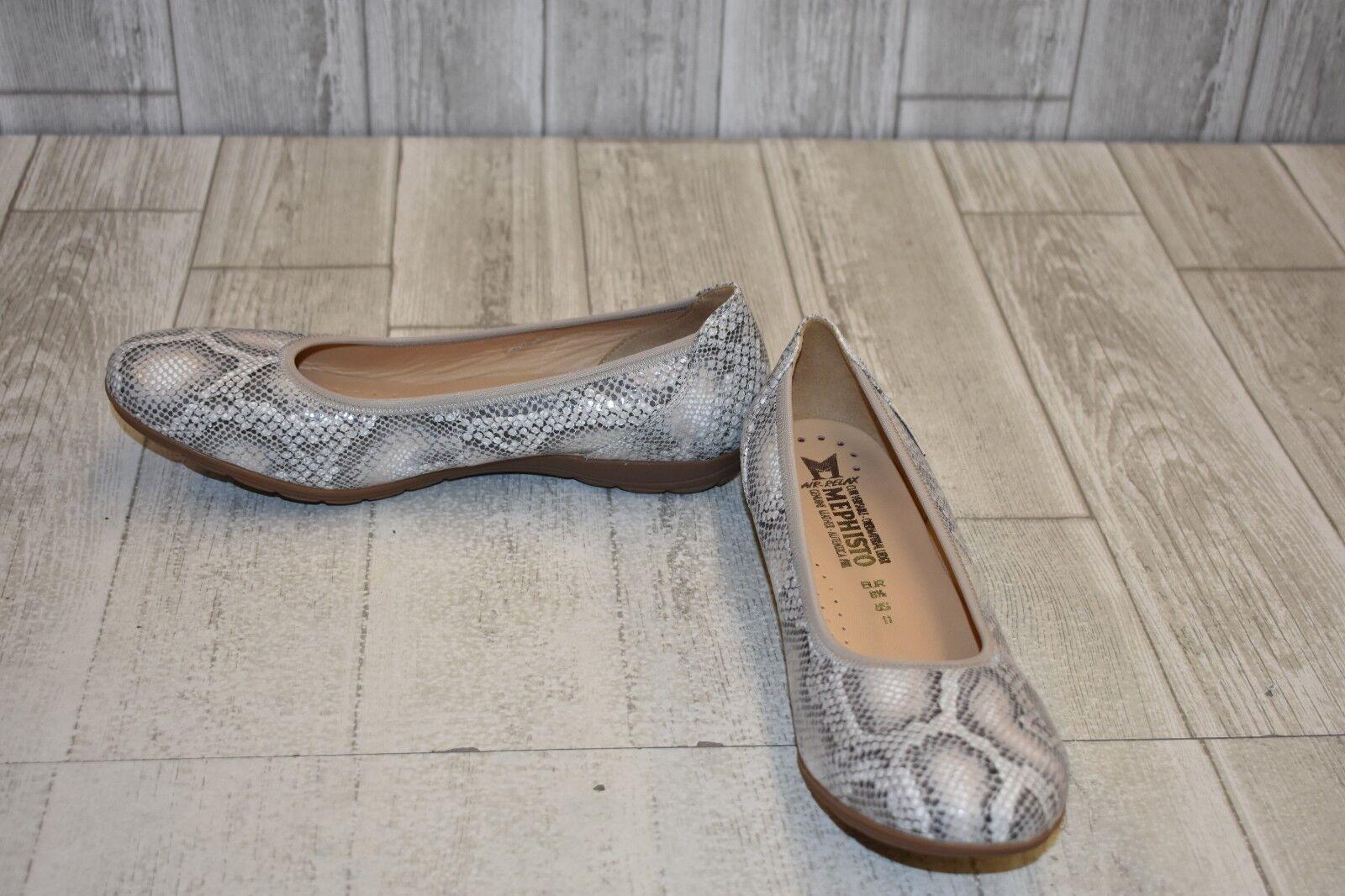 Mephisto Emilie Ballet Plana Para Mujer Talla serpiente 11 piel de serpiente Talla 03eafd