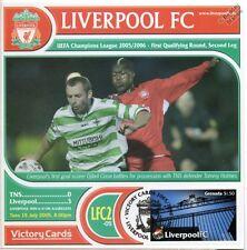 Liverpool 2005-06 TNS (Djibril Cisse) UEFA Football Stamp Victory Card #502