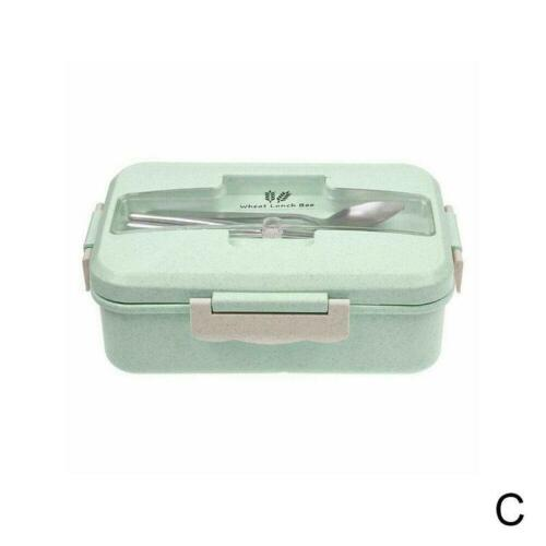 Adult Lunch Box Food Container Wheat Straw Microwave Bento Storage Boxes