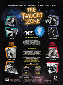 THE-TWILIGHT-ZONE-Series-Original-1991-Trade-print-AD-promo-Rod-Serling-TV-TOS