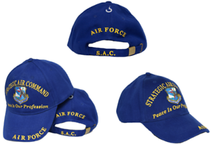 Strategic Air Command Peace Is Our Profession Air Force Embroidered Cap Hat EE