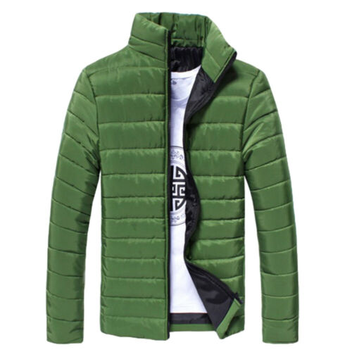 MEN/'S STUDENT STAND COLLAR LONG SLEEVE WARM COTTON QUILTED COAT JACKET SMART
