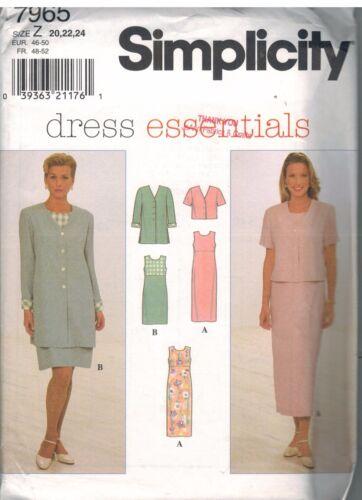 7965 UNCUT Vintage Simplicity SEWING Pattern Misses Dress Jacket OOP SEW Career