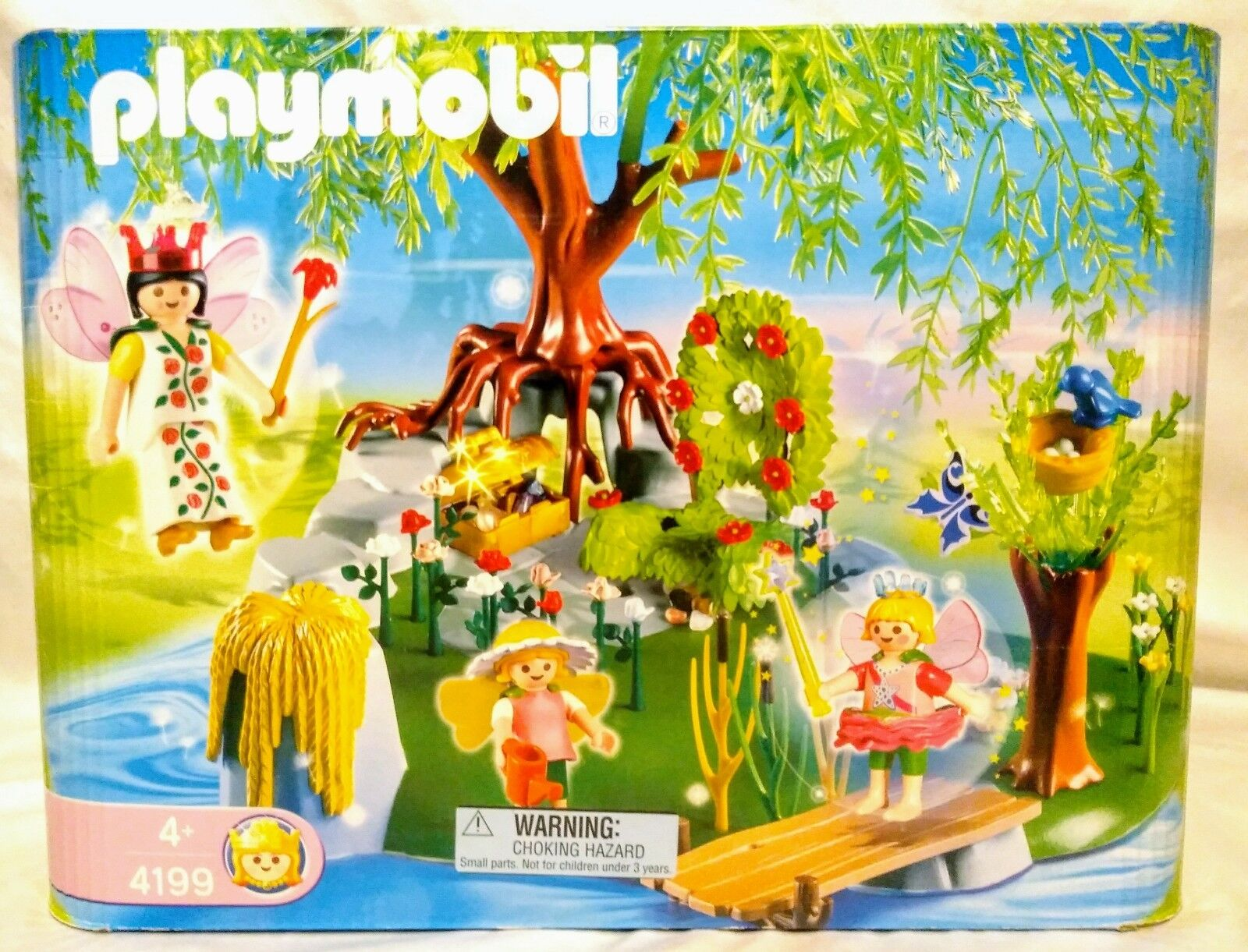 Playmobil Enchanted Fairy Tales Garden Playset 4199 Queen Island Retired Rare
