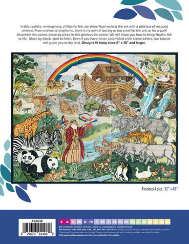 AA419 Anita Goodesign Embroidery Machine Design CD Noah/'s Ark Special Edition