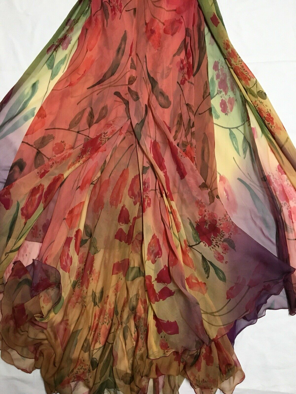 VALENTINO Vintage SS1997 Runway Tulip Print Long … - image 7
